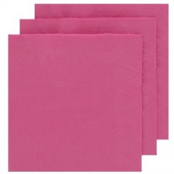 2 Ply Cocktail Napkins 20pk - Hot Pink