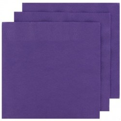 2 Ply Cocktail Napkins 20pk - Purple