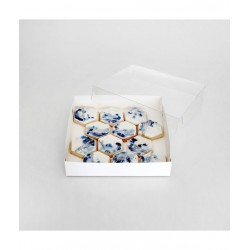 CLEAR LID BISCUIT BOX SQUARE 6x6x1in