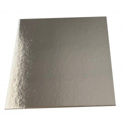 Square Cardboard Silver Cake board- 9 inch
