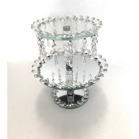 Crystal 2 Layer Cake Stand