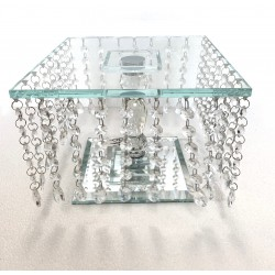 Crystal Single Tier Cake Stand