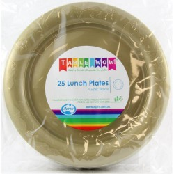 Lunch Plates 25 Pieces - Gold