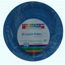 Lunch Plates 25 Pieces - Royal Blue