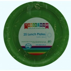 Lunch Plates 25 Pieces - Lime Green