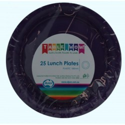 Lunch Plates 12 Pce - Purple