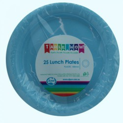 Lunch Plates 25 Pieces  - Light Blue