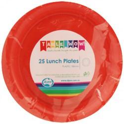 Lunch Plates 25 Pieces - Orange