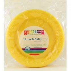 Lunch Plates 12 Pce - Yellow
