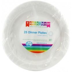 Dinner Plates 25 Pce - White