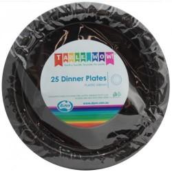 Dinner Plates 25 Pce - Black