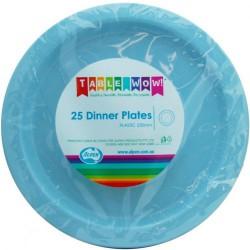 Dinner Plates 25 Pce - Light Blue