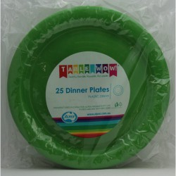 Dinner Plates 25 Pce - Lime Green