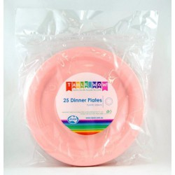 Dinner Plates 25 Pce - Pink