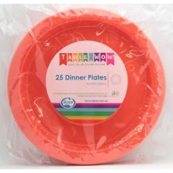Dinner Plates 25 Pce - Orange