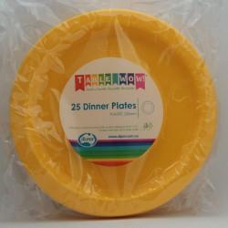 Dinner Plates 25 Pce - Yellow