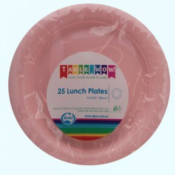 Lunch Plates 25 Pce - Pink