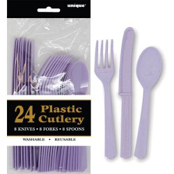 Assorted Cutlery 24pce - Lavender