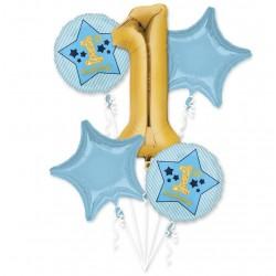 1st Birthday Foil Balloon Set