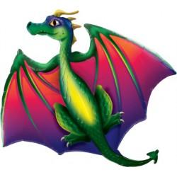 Mythical Dragon foil Balloon - 45 inch