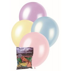 Decorator Balloons 25pce - Pearl Assorted