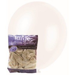 Pearl Balloons 25pce - White