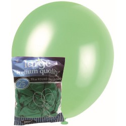 Pearl Balloons 25pce - Green
