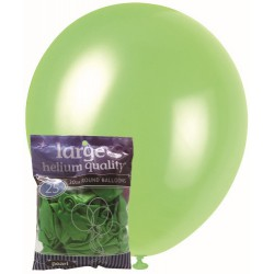Pearl Balloons 25pce - Lime Green