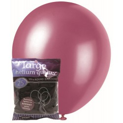 Pearl Balloons 25pce - Burgundy