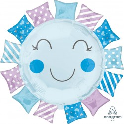 Baby Sunshine Foil Balloon - Blue