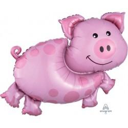 Farm Animals Foil Balloon- Pig