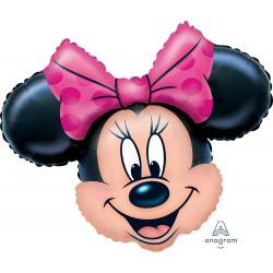 Minnie Mouse head foil balloon