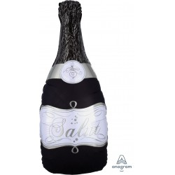 Champagne Bottle Foil Balloon- Black
