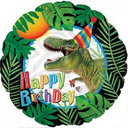 Happy Birthday Dinosaur Foil Balloon