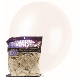 Pearl Balloons 100pce - White