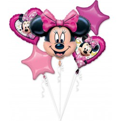 *INFLATED* Minnie Mouse Foil Balloon Set