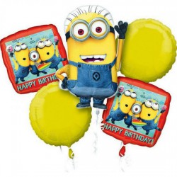 *INFLATED* Despicable Me Minions Foil Balloon Bouquet