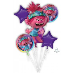 *INFLATED* Trolls World Tour Foil Balloon Bouquet