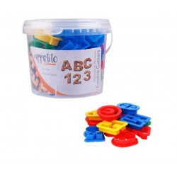 Appetito 36 Piece Alphabet and Numbers Cookie Cutter Set