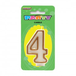 Gold Number Candle - 4