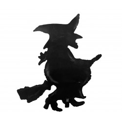 Halloween Foil balloon- Witch Silhouette