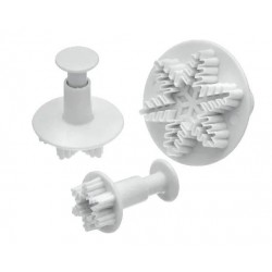 Mondo Snowflake Plunger Cutters - Set of 3
