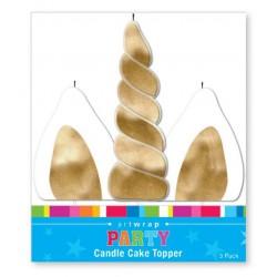 Unicorn Glitter Candle Cake Topper