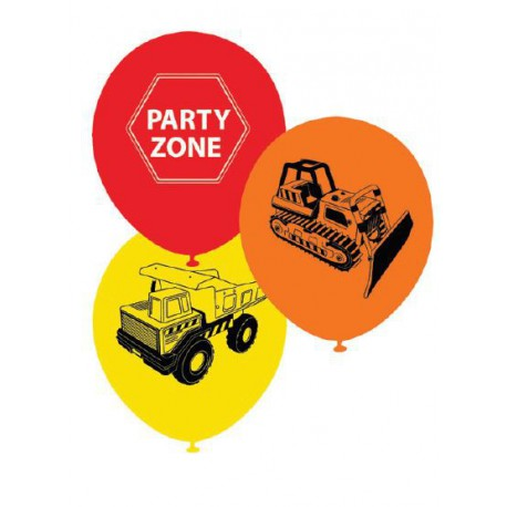 Construction Printed Balloons