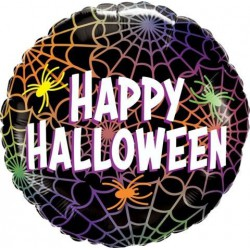 Happy Halloween Foil balloon- Spiders and Webs