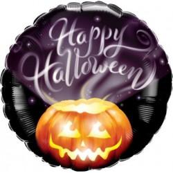 Happy Halloween Foil balloon- Smokey Pumpkin