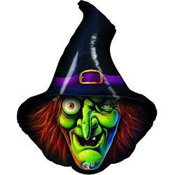"""34"""" Halloween Foil balloon- Wicked Witch"""