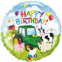 Happy Birthday Foil Balloon - Barnyard