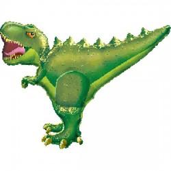 Dinosaur Foil Balloon-  Green T-Rex