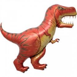 Dinosaur Foil Balloon-  Red T-Rex